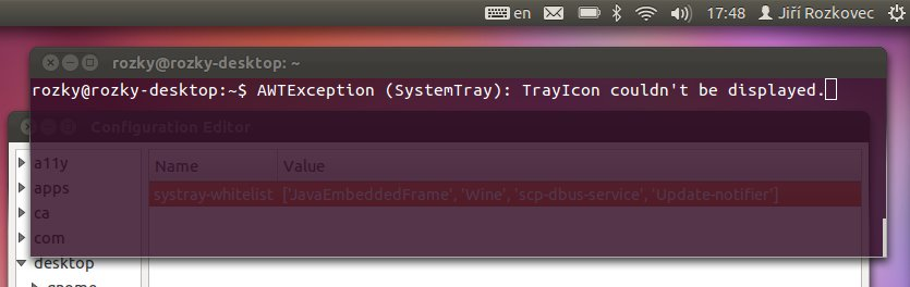 Ubuntu: SystemTray not supported